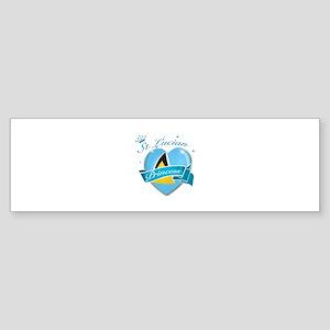 St Lucian Princess Sticker (Bumper)