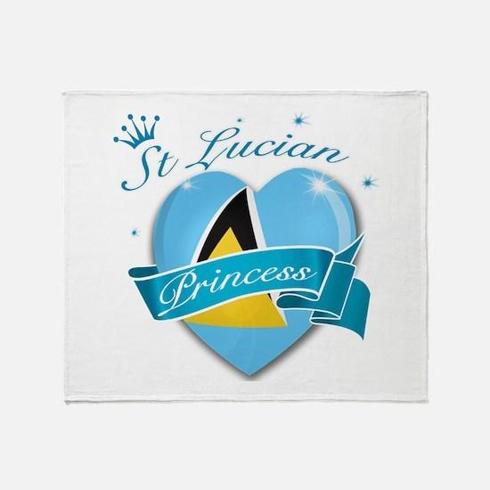 St Lucian Princess Throw Blanket