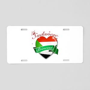 Sudanese Princess Aluminum License Plate