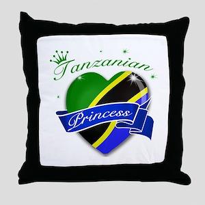 Tanzanian Princess Throw Pillow