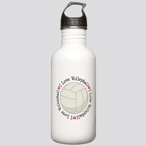 I Love Volleyball Gift Stainless Water Bottle 1.0L