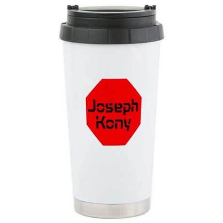 Stop Sign Joseph Kony Stainless Steel Travel Mug