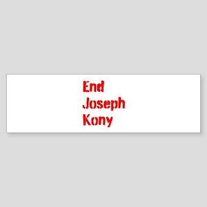 End Joseph Kony Sticker (Bumper)