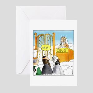 Atheist greeting cards cafepress zeus1 greeting cards m4hsunfo