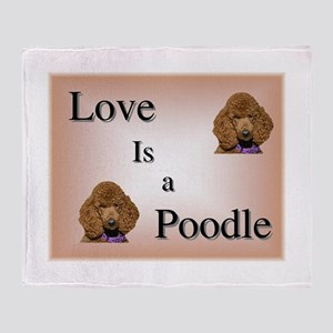 Love is a Poodle Throw Blanket