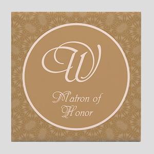 Bridal Blush - Matron of Honor - Tile Coaster