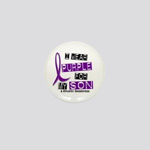 I Wear Purple 37 Epilepsy Mini Button