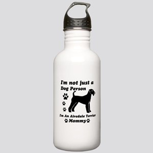 Airedale Terrier Mommy Stainless Water Bottle 1.0L