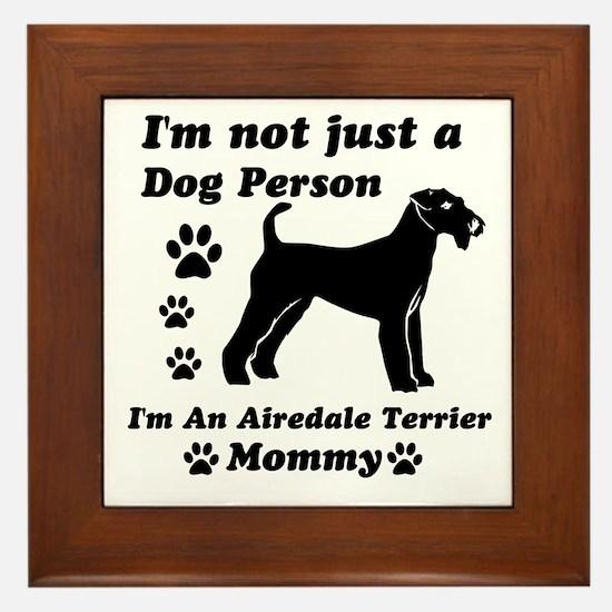 Airedale Terrier Mommy Framed Tile