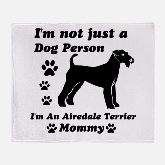 Airedale Terrier Mommy Throw Blanket