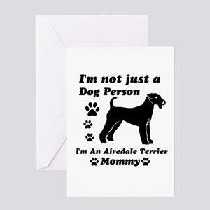 Airedale Terrier Mommy Greeting Card