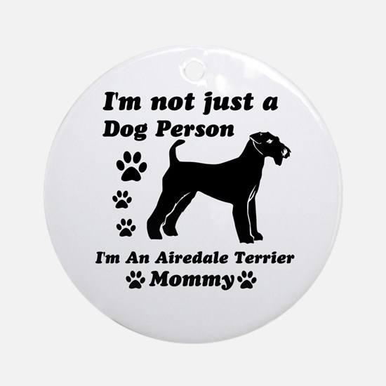 Airedale Terrier Mommy Ornament (Round)
