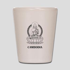 Cambodia Buddha Shot Glass