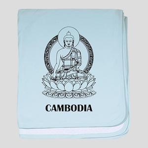 Cambodia Buddha baby blanket