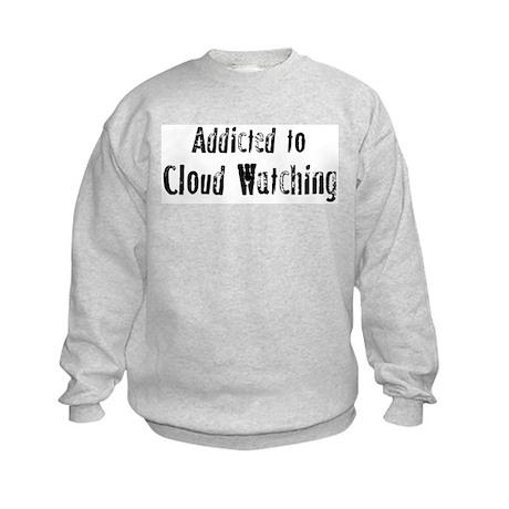 Addicted to Cloud Watching Kids Sweatshirt