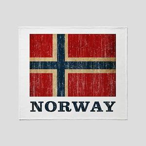Vintage Norway Throw Blanket