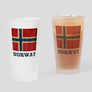 Vintage Norway Drinking Glass