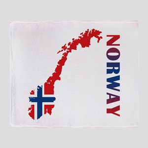 Map Of Norway Throw Blanket