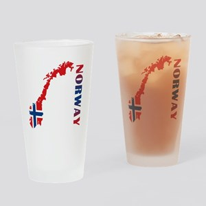 Map Of Norway Drinking Glass