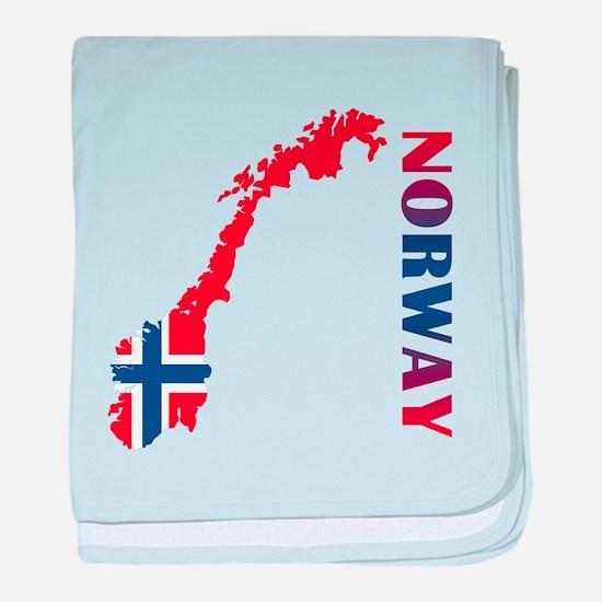 Map Of Norway baby blanket