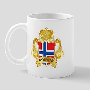 Gold Norway Mug