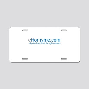 eHORNYME Aluminum License Plate