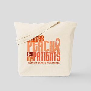 I Wear Peach 6.4 Uterine Cancer Tote Bag