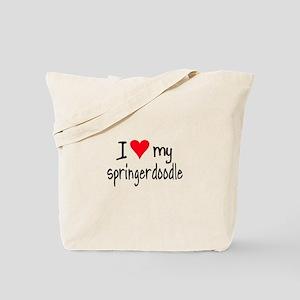 I LOVE MY Springerdoodle Tote Bag