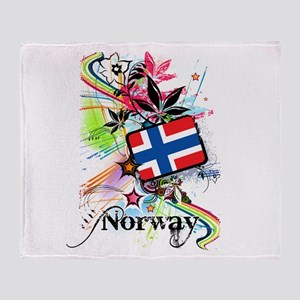 Flower Norway Throw Blanket