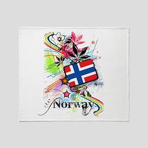 Flower Norway Throw Blanket