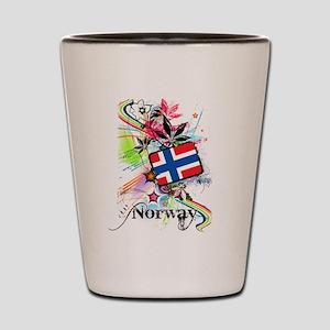 Flower Norway Shot Glass