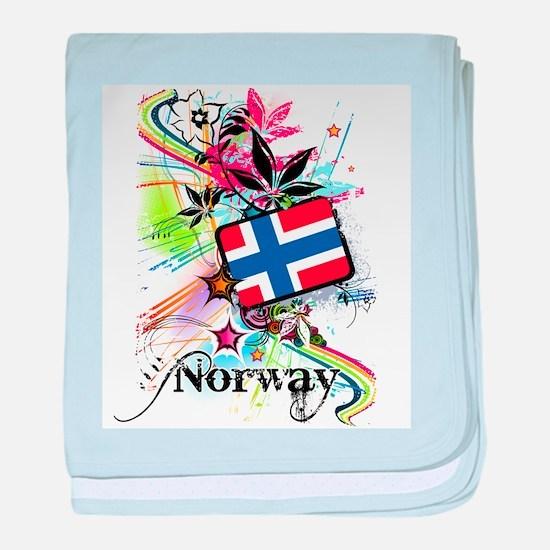 Flower Norway baby blanket