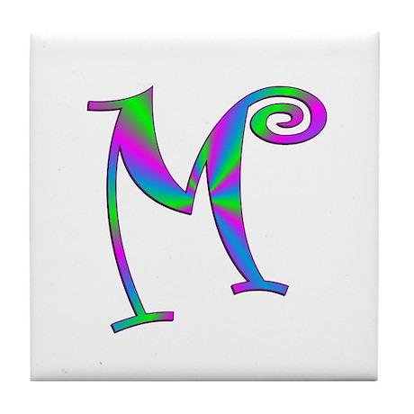 M Monogram Tile Coaster