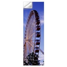 Low angle view of a ferris wheel, Chicago, Illinoi Wall Decal