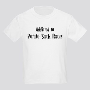 Addicted to Potato Sack Races Kids T-Shirt