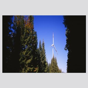 Low angle view of a wind turbine, Black Forest, Ba