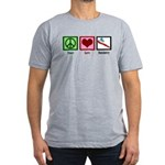 Peace Love Dentistry Men's Fitted T-Shirt (dark)