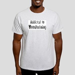 Addicted to Woodturning Ash Grey T-Shirt