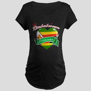 Zimbabwean Princess Maternity Dark T-Shirt