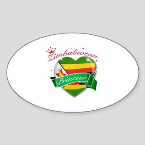 Zimbabwean Princess Sticker (Oval)