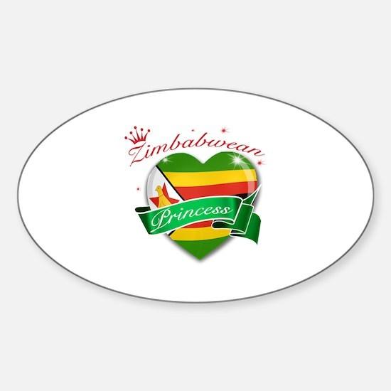 Zimbabwean Princess Sticker (Oval)