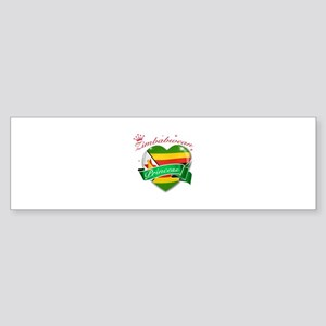 Zimbabwean Princess Sticker (Bumper)