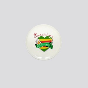 Zimbabwean Princess Mini Button