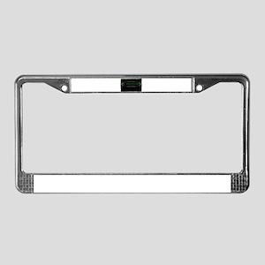 mr anderson the matrix License Plate Frame