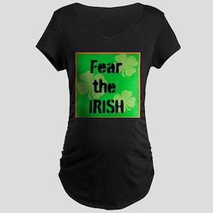 Fear the Irish Maternity Dark T-Shirt