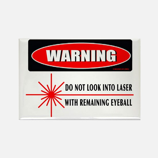 Laser Do Not Look Into Laser Rectangle Magnet