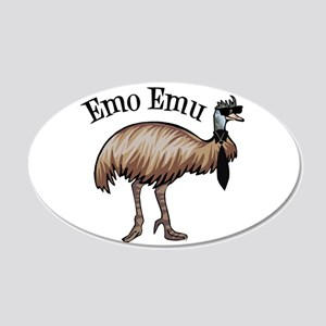 Emo Emu 20x12 Oval Wall Decal