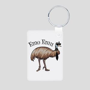 Emo Emu Aluminum Photo Keychain