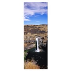 High angle view of a waterfall, Palouse Falls, Pal Poster