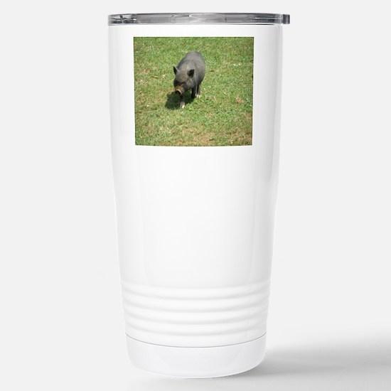 Pot Bellied Pig Stainless Steel Travel Mug